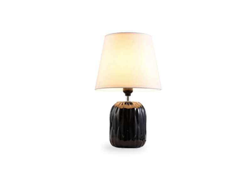 black grant table lamp