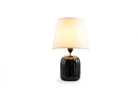 black grant table lamp