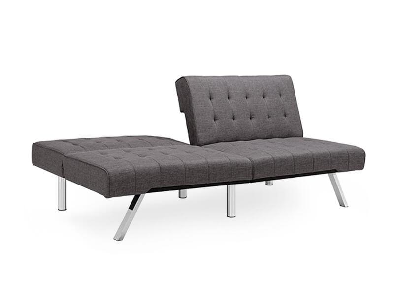 futon grey linen jet sofa