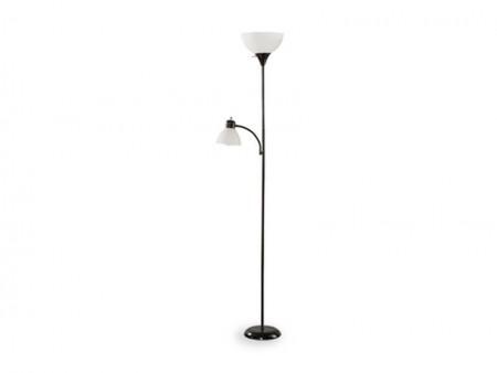 black wave floor lamp