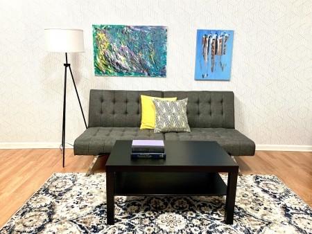 Zen Living Room Rental Furniture Set