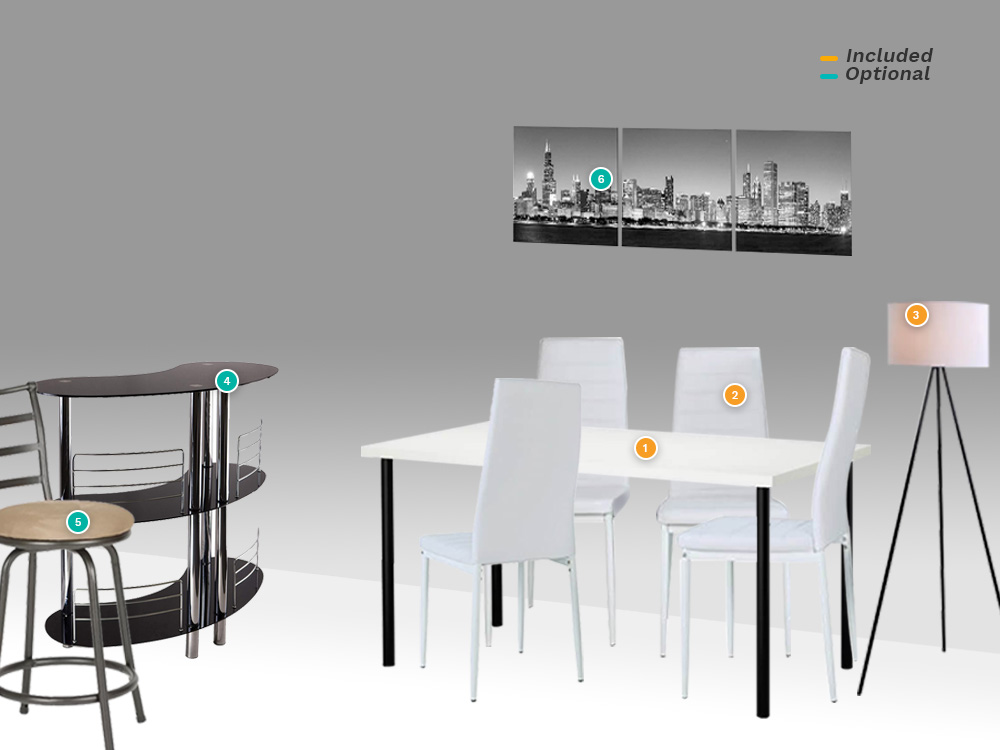 rent pearl dining set