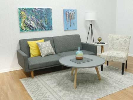 Hip Living Room Rental Furniture Set