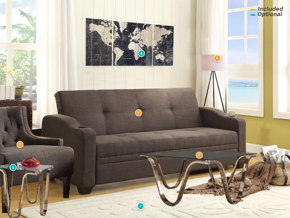 Rent Caffery Sleeper Living Room