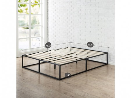 Twin Black Hub Platform Bed