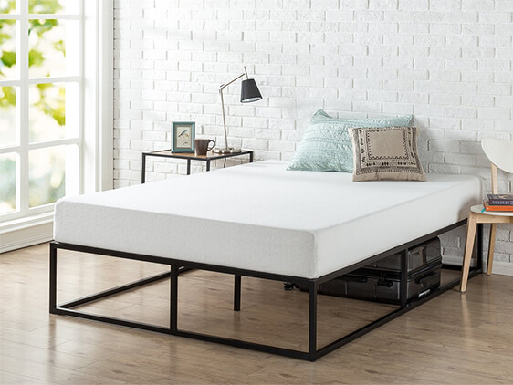 Rent Now Queen Black Hub Platform Bed