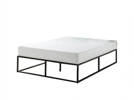Rent Queen Black Hub Platform Bed