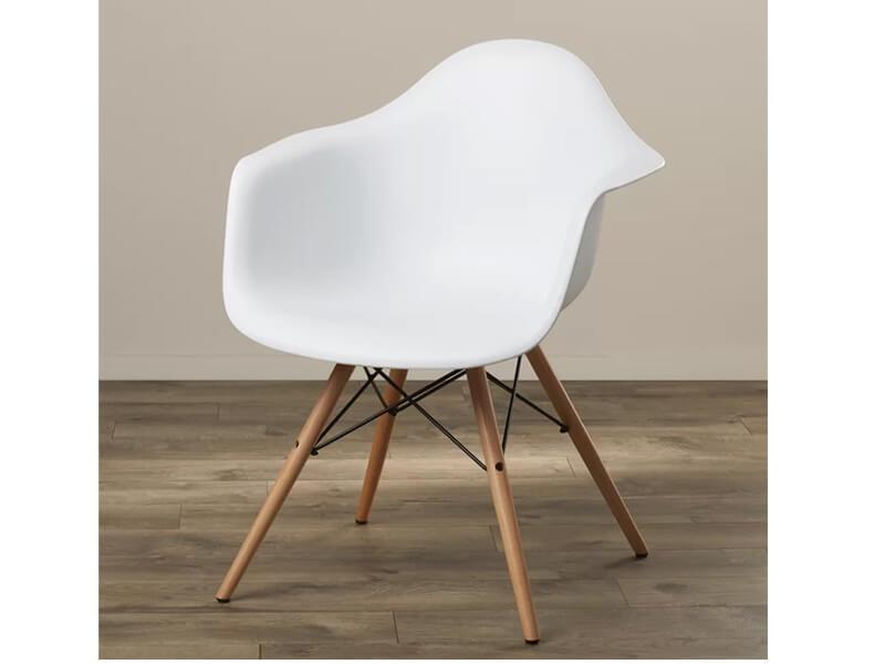 White Winston Armchair 3