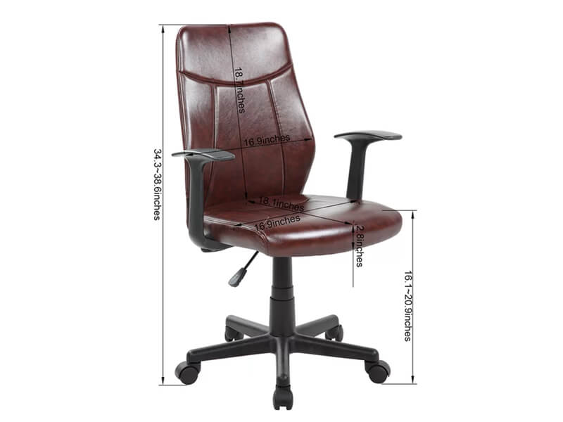 Brown Joey Desk Chair 5