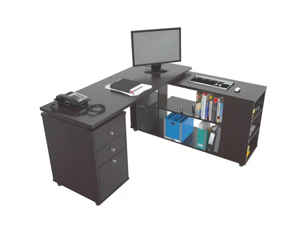 rent inhabitr L shaped desk