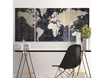 Rent World 3 piece art work