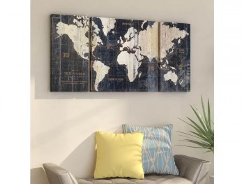 Rent Now World 3 piece art work