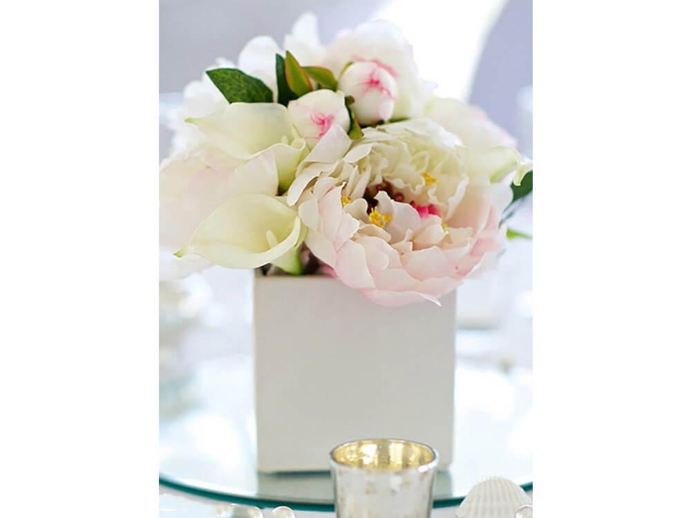 White Square Vase 1