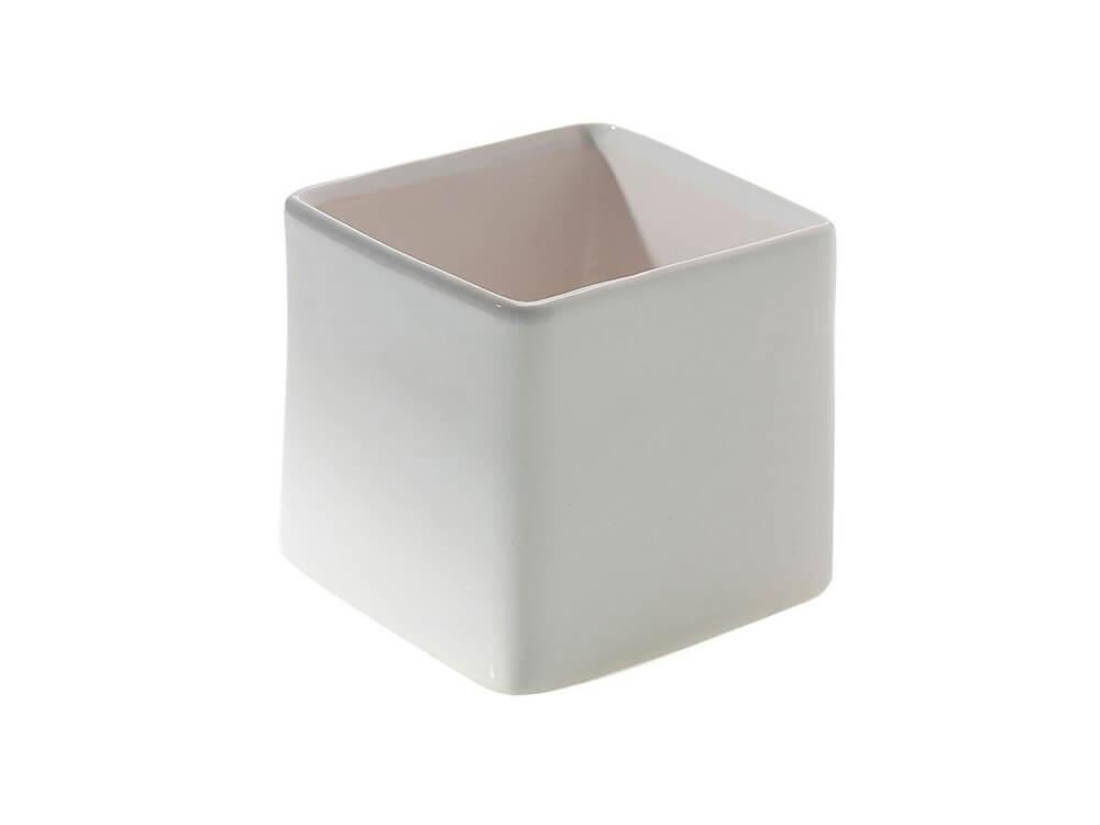 White Square Vase