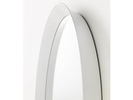 Rent Oval White Mirror
