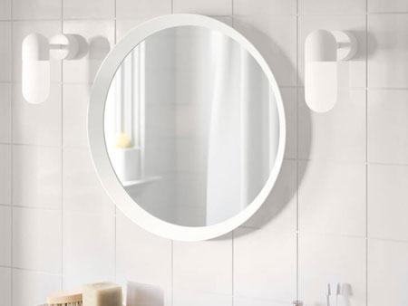 Rent Now Oval White Mirror