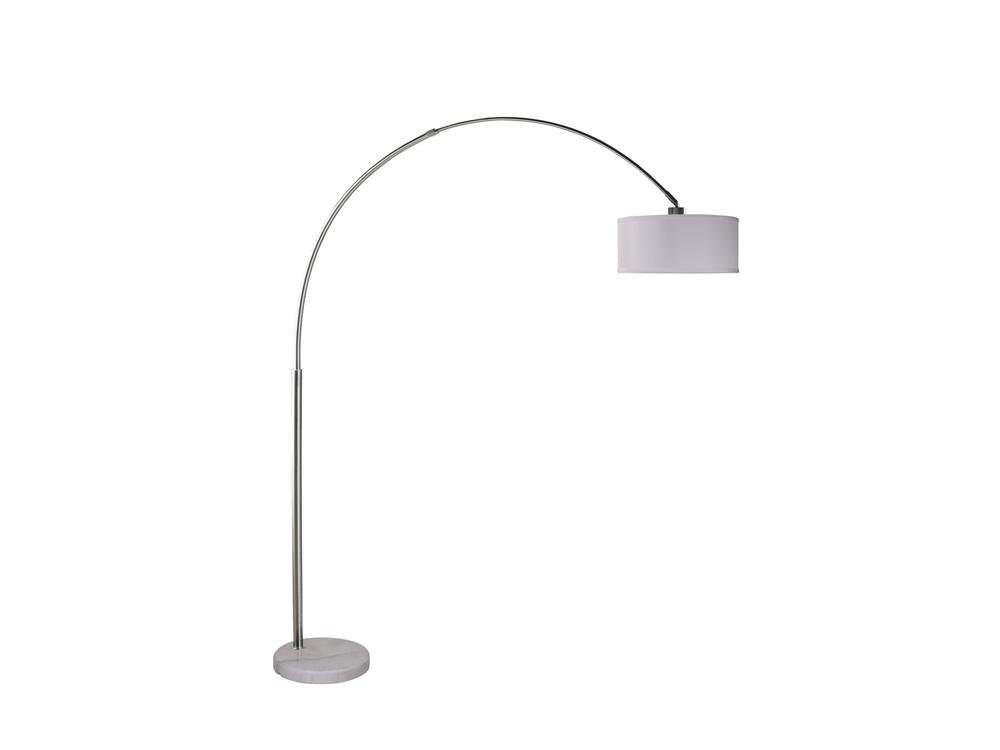 inhabitr arch floor lamp white