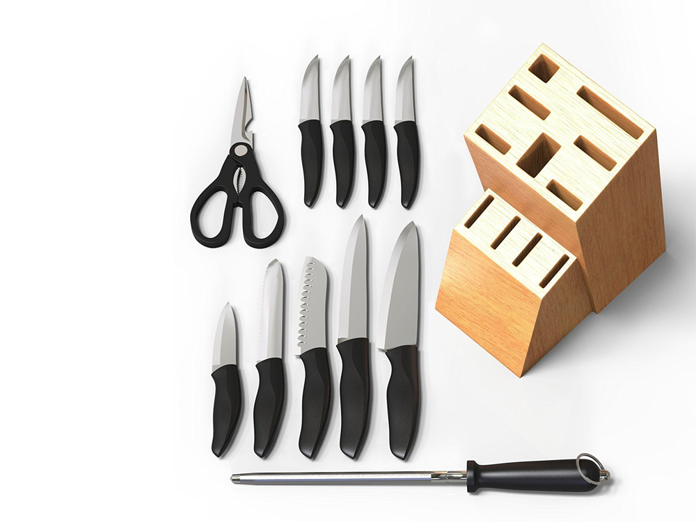 Rent Inhabitr 12 Piece Block Knife Set