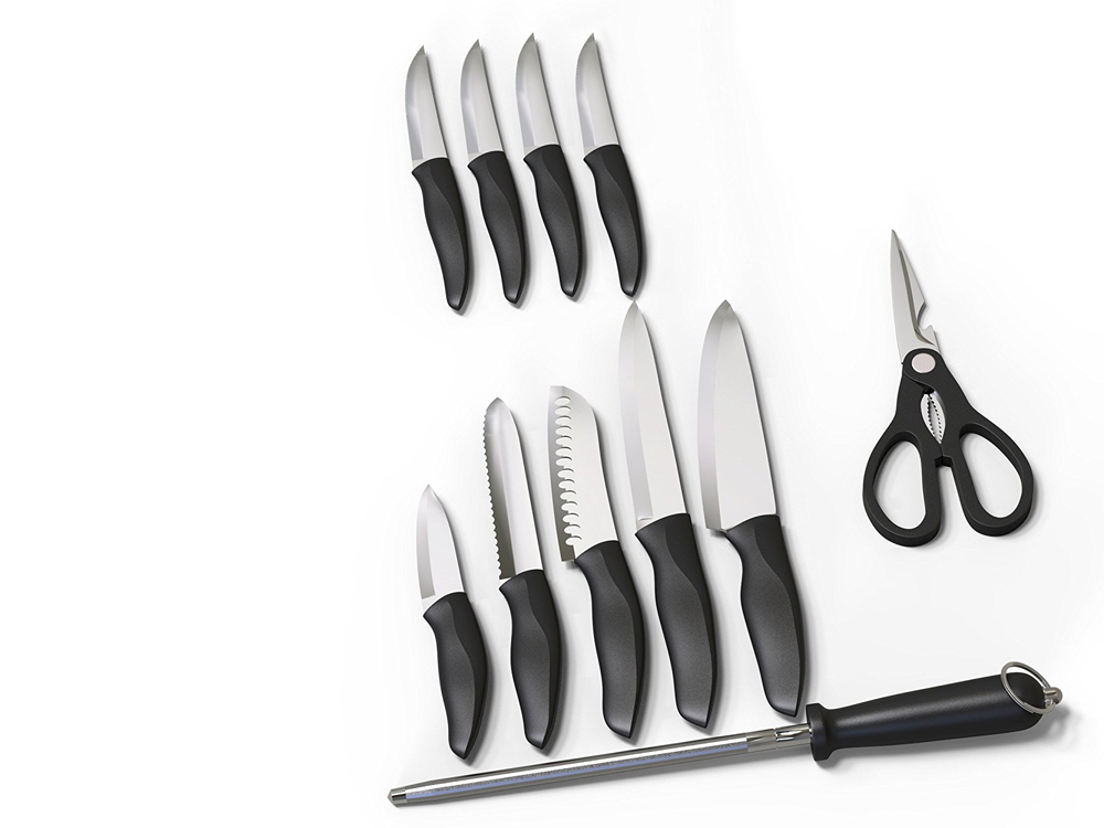 Inhabitr 12 Piece Block Knife Set for Rent
