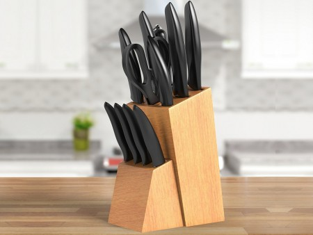 Inhabitr 12 Piece Block Knife Set