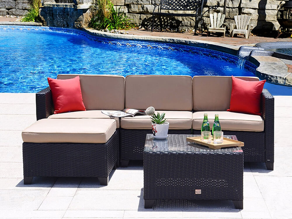 rent inhabitr 5 piece outdoor sofa