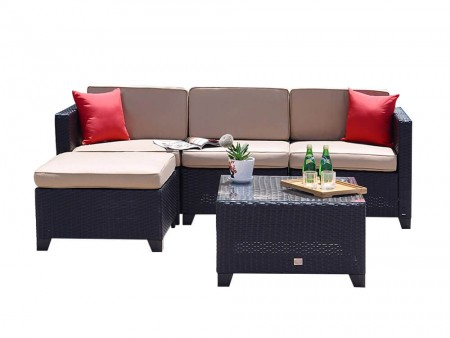 Inhabitr's 5 Piece Outdoor Sofa