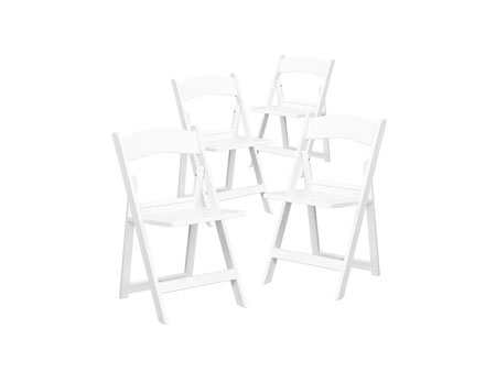 4 Piece White Chairs