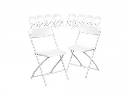 10 Piece Plastic Chairs