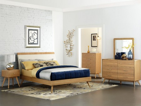 Rent Oak Natural Bed