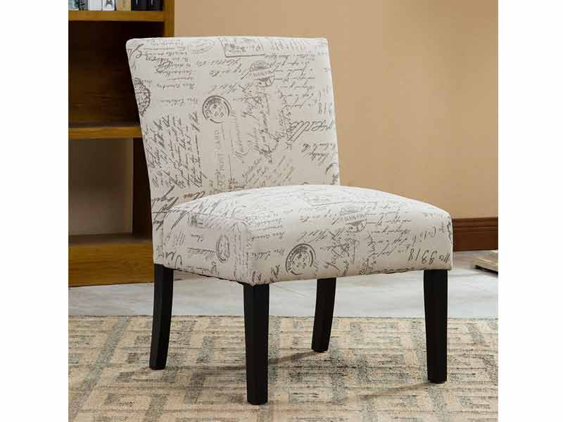 Light Cream Jill Accent Chair 2
