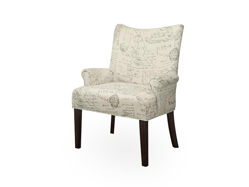 Light White Hover Accent Chair 1
