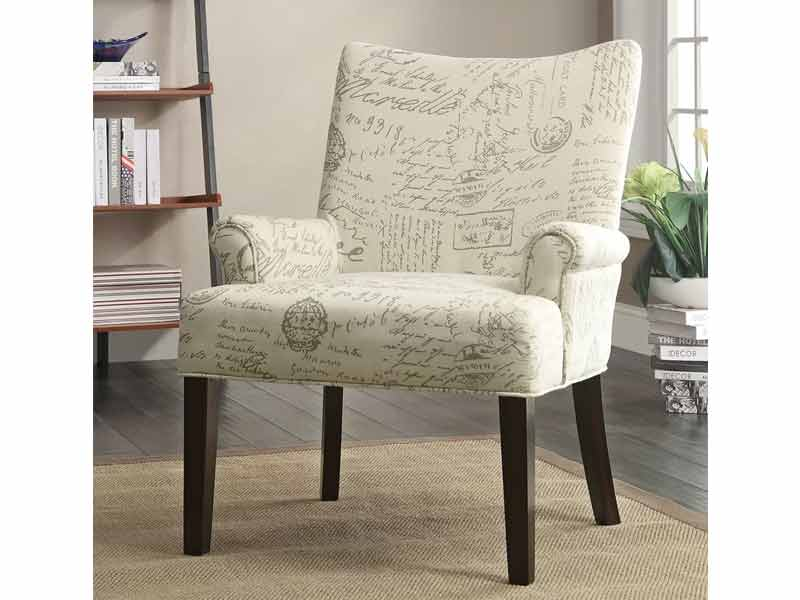 Light White Hover Accent Chair 2