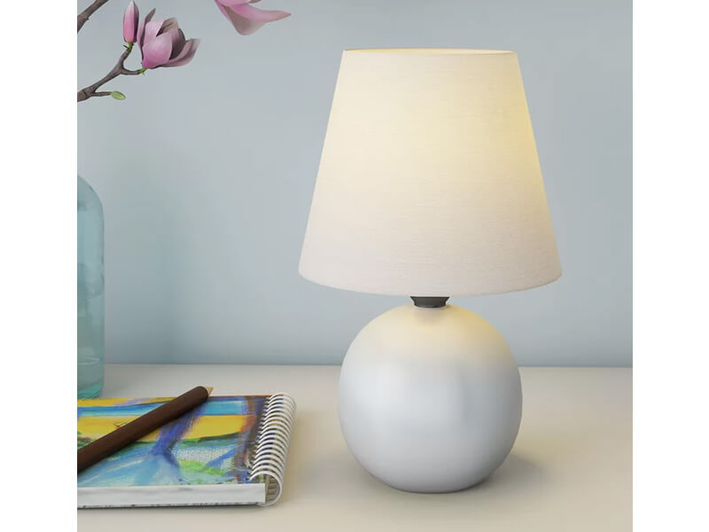 White Jameson Table Lamp 3