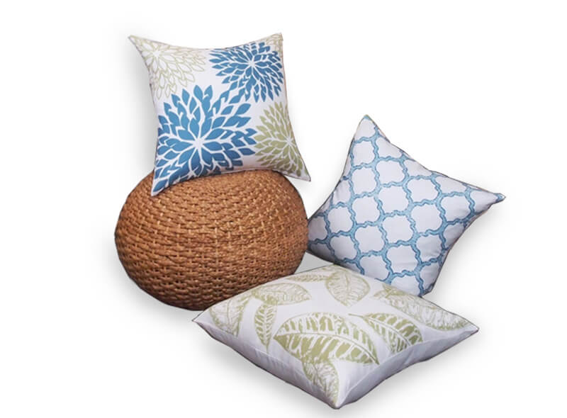 New Living Blue Green Sunflower Cushion 1