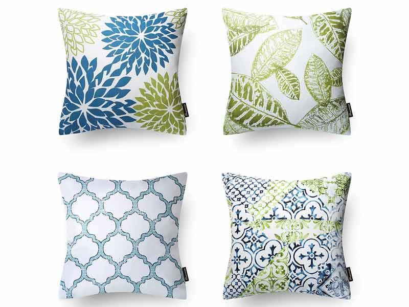New Living Blue Green Sunflower Cushion 2
