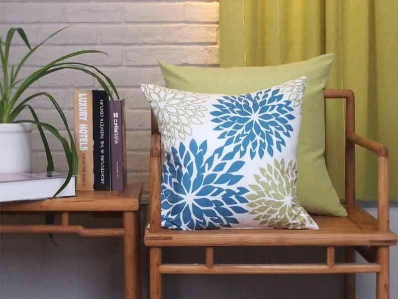 New Living Blue Green Sunflower Cushion 4