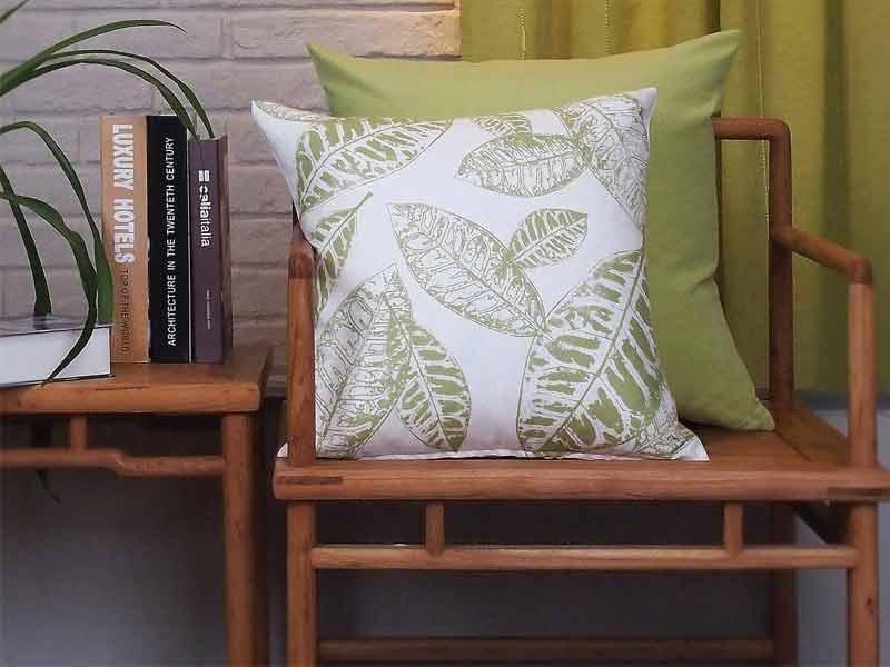 New Living Blue Green Sunflower Cushion 5
