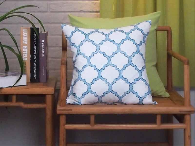 New Living Blue Green Sunflower Cushion 6