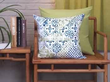 New Living Blue Green Sunflower Cushion 3
