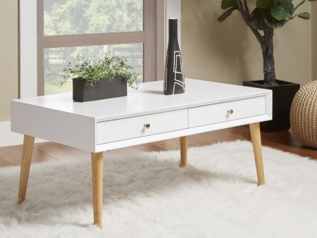 Rent London 2 drawer Coffee Table White