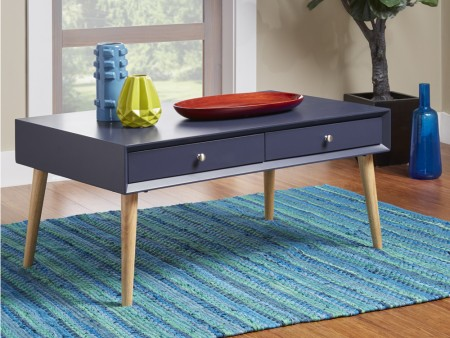 Rent london 2 drawer coffee table blue