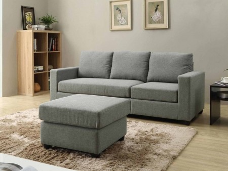 Small Space Convertible Troy Sectional for Rent