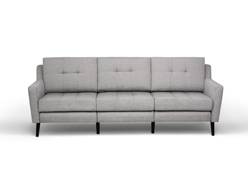 Grey 3 Seater Burrow Sofa 1