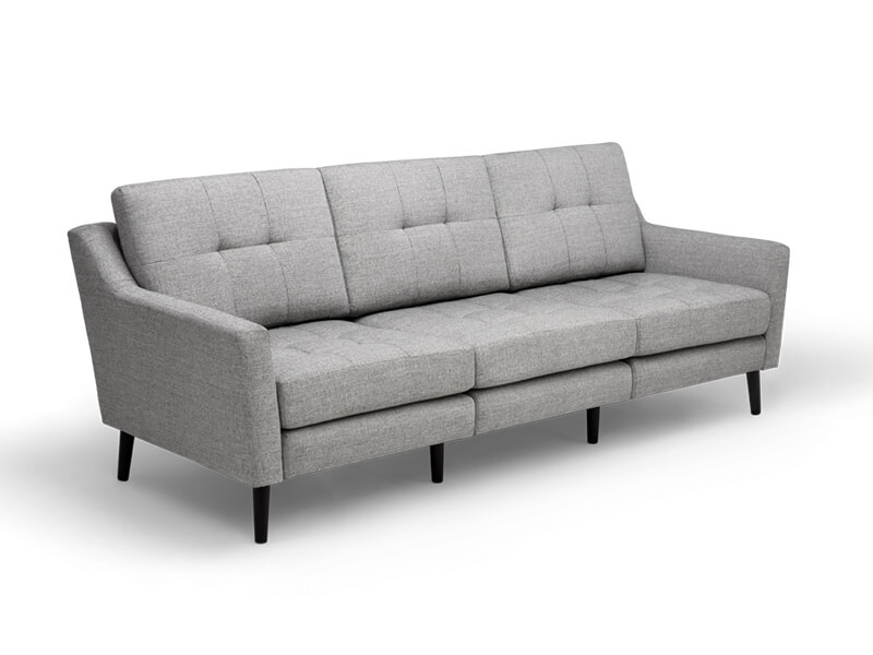 Grey 3 Seater Burrow Sofa 2