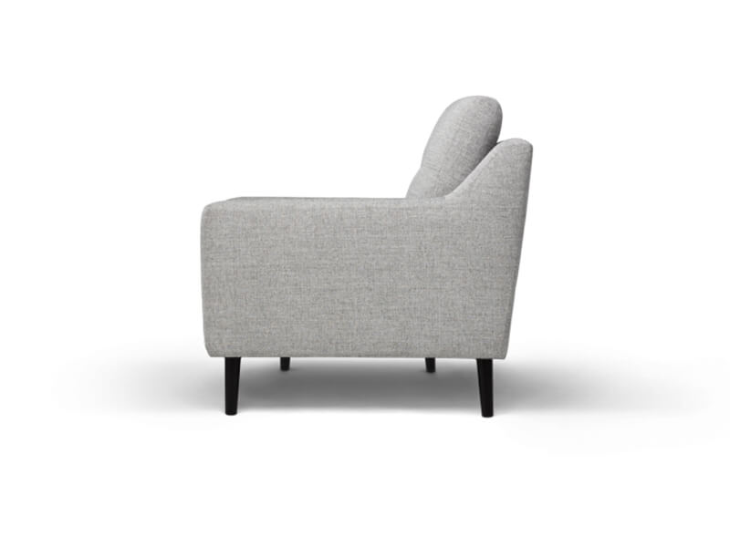 Grey 3 Seater Burrow Sofa 3