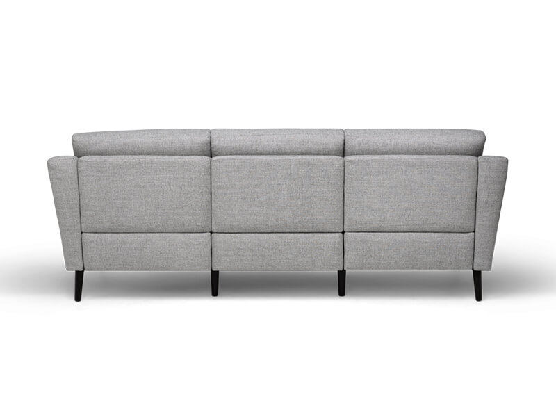 Grey 3 Seater Burrow Sofa 4