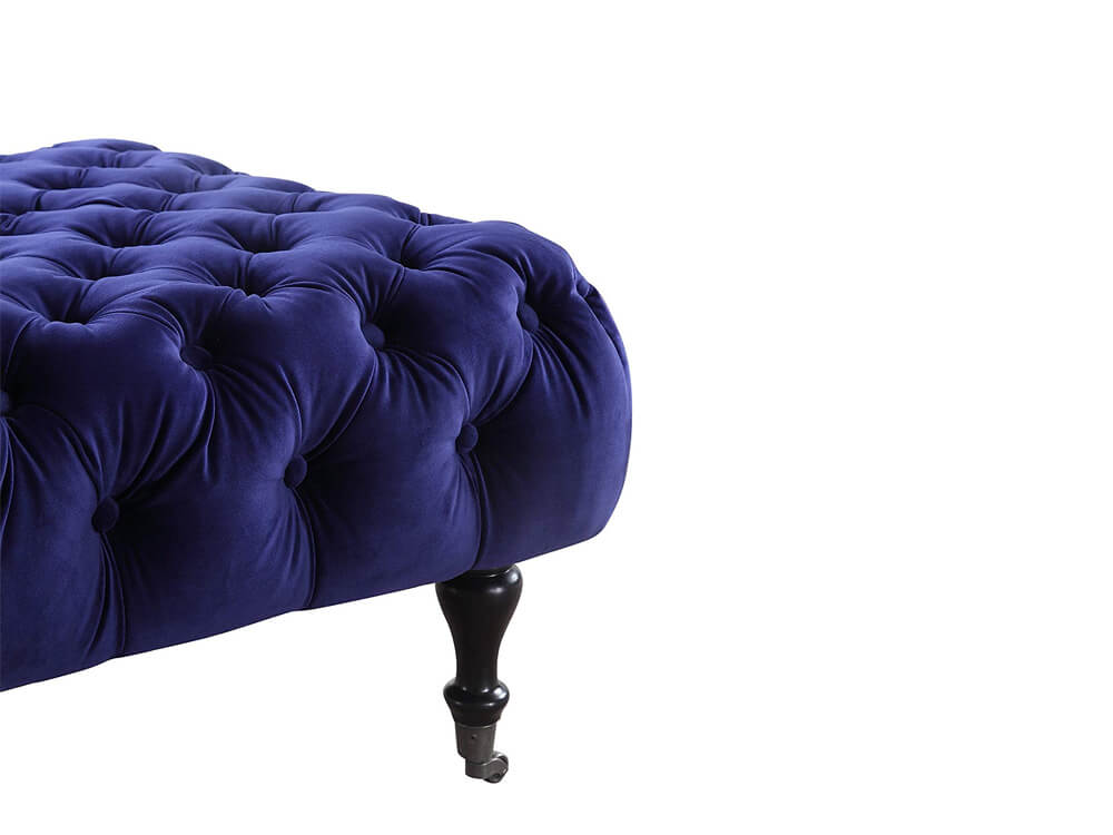 Rent Now Blue Sapphire Ottoman