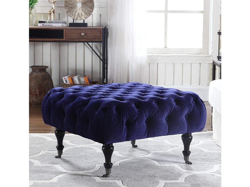 Rent Online Blue Sapphire Ottoman