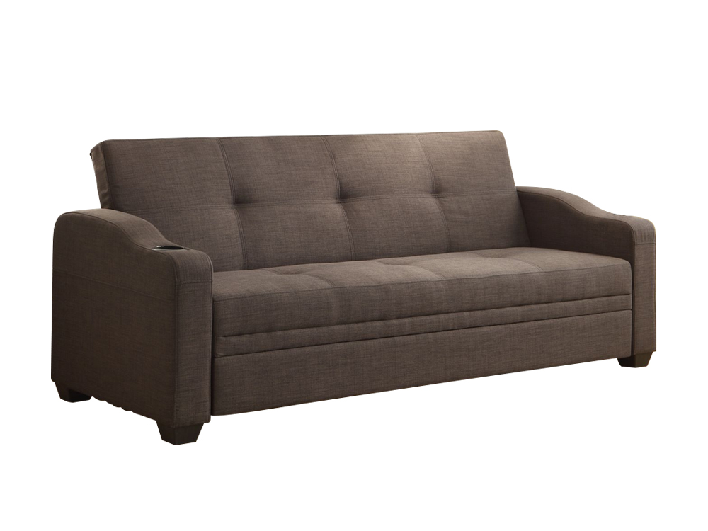 caf sleeper sofa gray