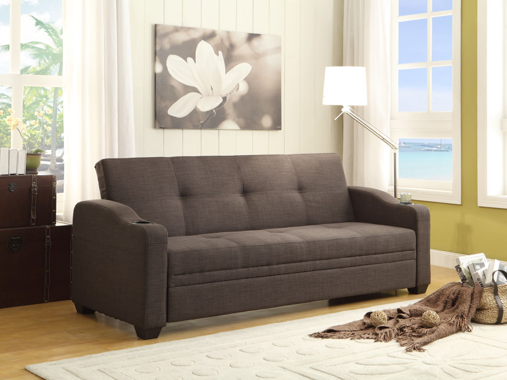 rent caf sleeper sofa gray
